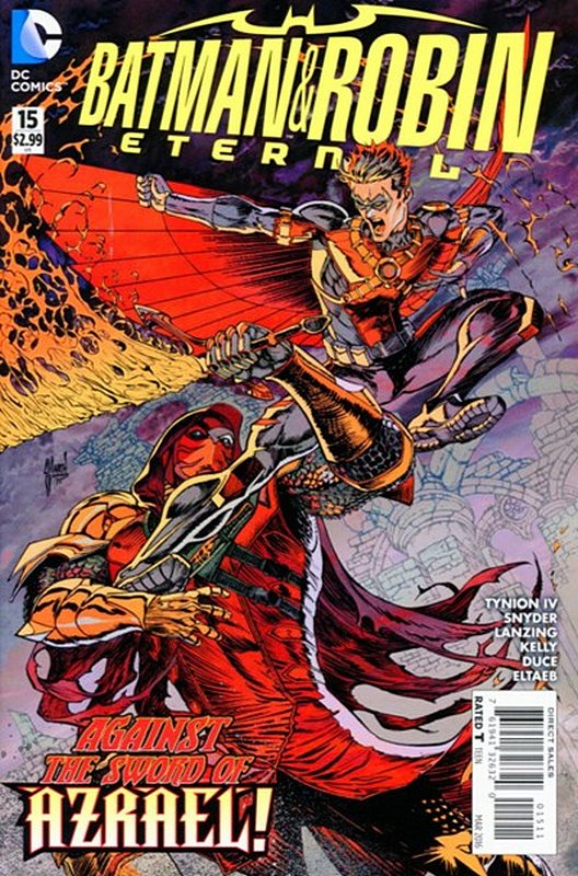 Cover of Batman and Robin Eternal (Vol 1) #15. One of 250,000 Vintage American Comics on sale from Krypton!