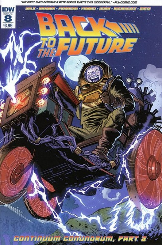 Cover of Back to the Future (Vol 1) #8. One of 250,000 Vintage American Comics on sale from Krypton!