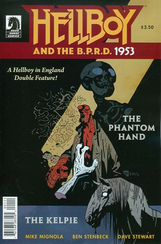 Cover of Hellboy & BPRD: 1953 Phantom Hand (2015 One Shot)) #1. One of 250,000 Vintage American Comics on sale from Krypton!