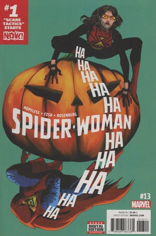 Cover of Spider-Woman (Vol 5) #13. One of 250,000 Vintage American Comics on sale from Krypton!