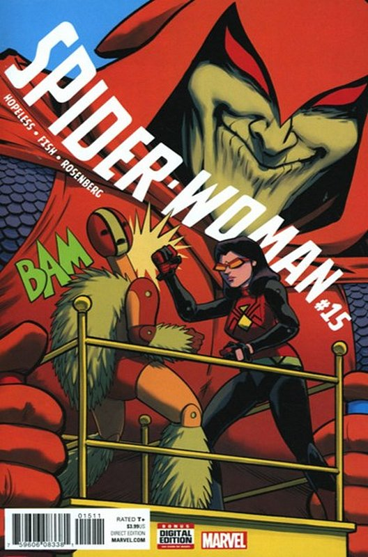 Cover of Spider-Woman (Vol 5) #15. One of 250,000 Vintage American Comics on sale from Krypton!