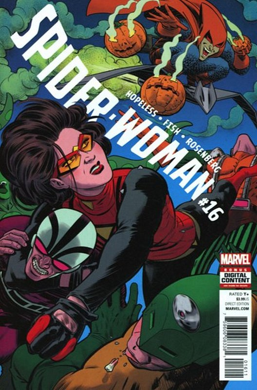 Cover of Spider-Woman (Vol 5) #16. One of 250,000 Vintage American Comics on sale from Krypton!