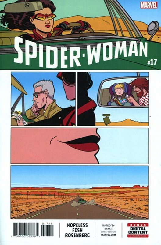 Cover of Spider-Woman (Vol 5) #17. One of 250,000 Vintage American Comics on sale from Krypton!