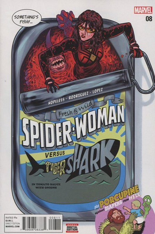 Cover of Spider-Woman (Vol 5) #8. One of 250,000 Vintage American Comics on sale from Krypton!