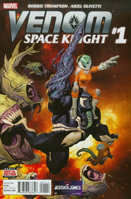 Cover of Venom: Space Knight (Vol 1) #1. One of 250,000 Vintage American Comics on sale from Krypton!