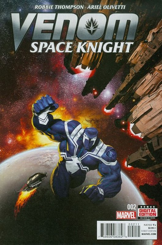 Cover of Venom: Space Knight (Vol 1) #2. One of 250,000 Vintage American Comics on sale from Krypton!