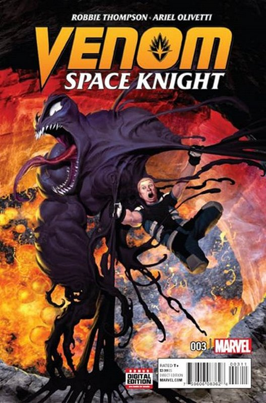 Cover of Venom: Space Knight (Vol 1) #3. One of 250,000 Vintage American Comics on sale from Krypton!