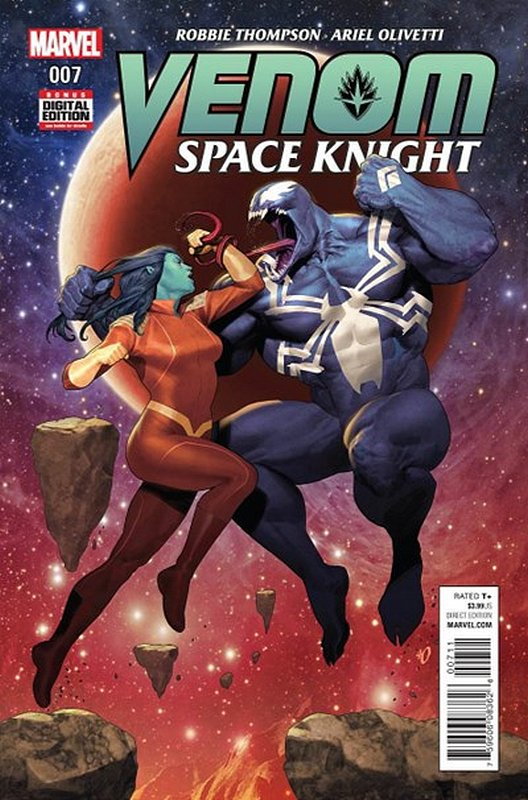 Cover of Venom: Space Knight (Vol 1) #7. One of 250,000 Vintage American Comics on sale from Krypton!