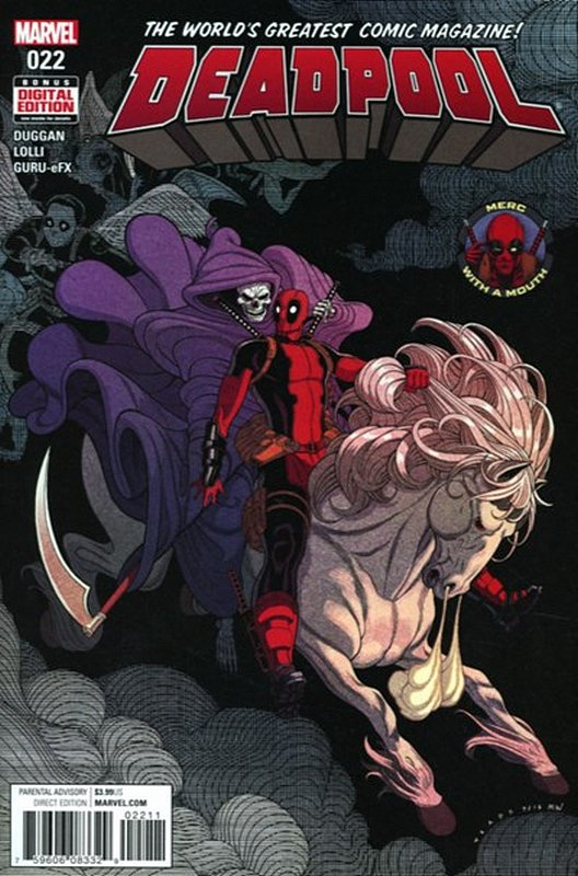 Cover of Deadpool (Vol 4) #22. One of 250,000 Vintage American Comics on sale from Krypton!
