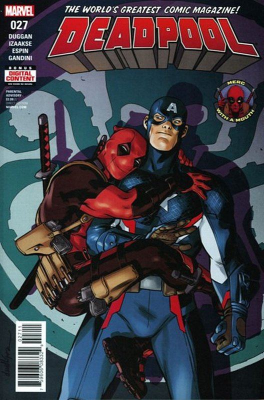 Cover of Deadpool (Vol 4) #27. One of 250,000 Vintage American Comics on sale from Krypton!