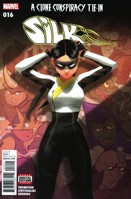 Cover of Silk (Vol 2) (Marvel) #16. One of 250,000 Vintage American Comics on sale from Krypton!