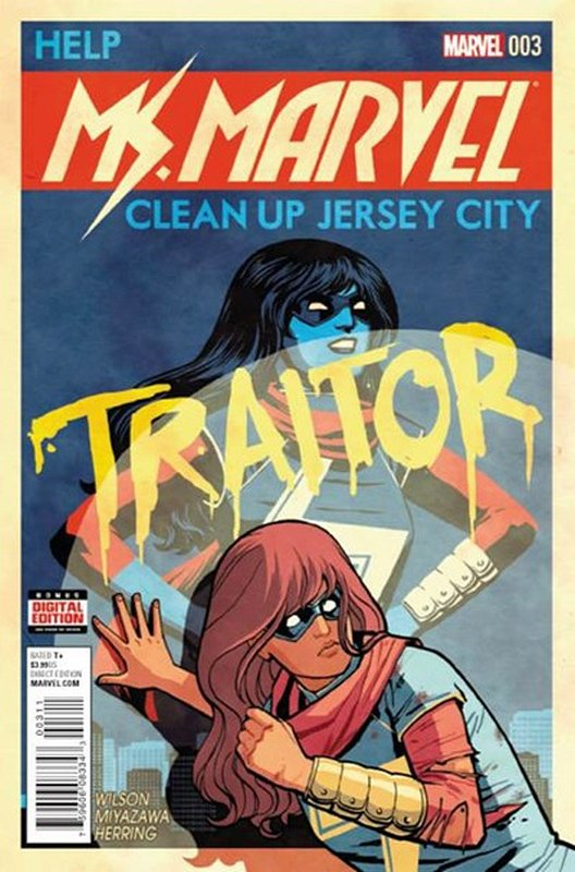 Cover of Ms Marvel (Vol 4) #3. One of 250,000 Vintage American Comics on sale from Krypton!