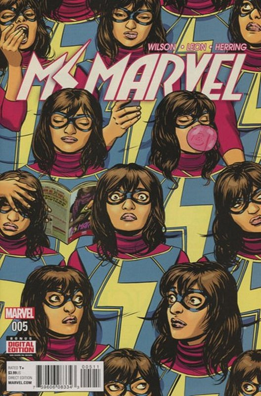 Cover of Ms Marvel (Vol 4) #5. One of 250,000 Vintage American Comics on sale from Krypton!