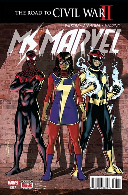 Cover of Ms Marvel (Vol 4) #7. One of 250,000 Vintage American Comics on sale from Krypton!