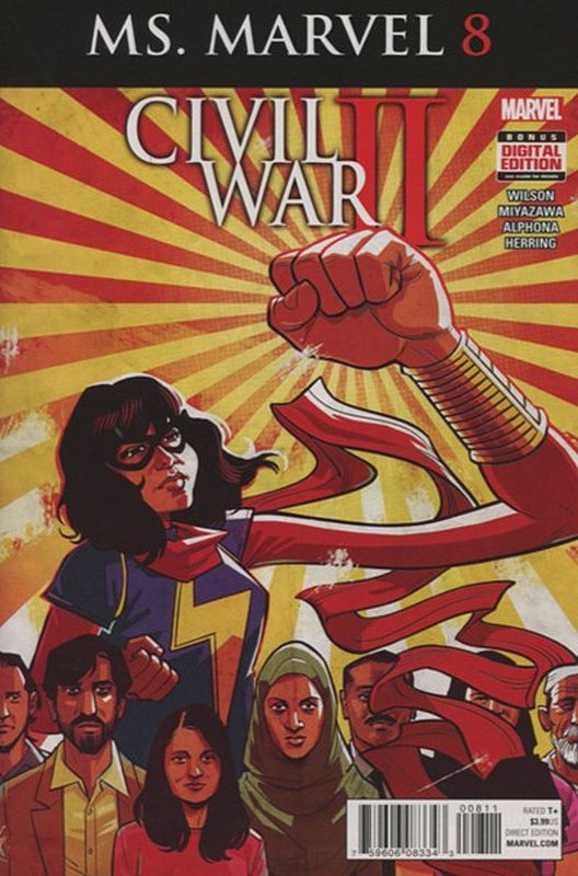 Cover of Ms Marvel (Vol 4) #8. One of 250,000 Vintage American Comics on sale from Krypton!