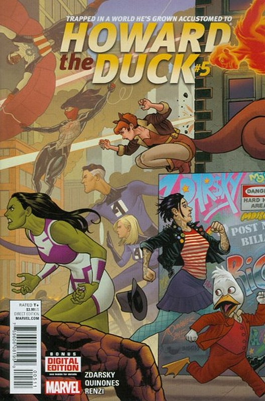 Cover of Howard the Duck (Vol 3) #5. One of 250,000 Vintage American Comics on sale from Krypton!