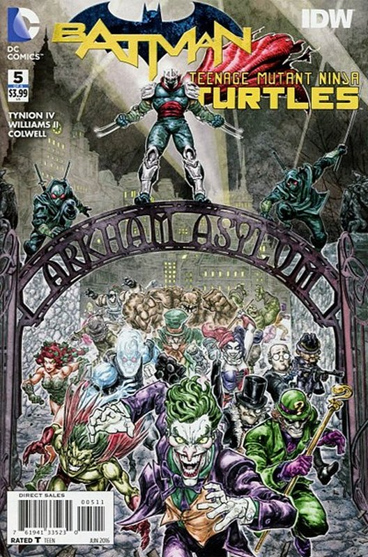 Cover of Batman/Teenage Mutant Ninja Turtles (2016 Ltd) #5. One of 250,000 Vintage American Comics on sale from Krypton!
