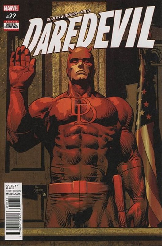 Cover of Daredevil (Vol 5) #22. One of 250,000 Vintage American Comics on sale from Krypton!