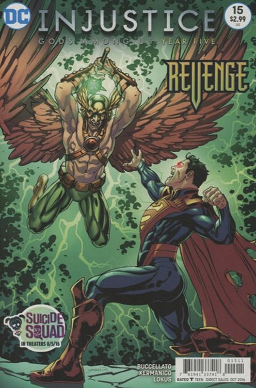 Cover of Injustice: Gods Among Us - Year Five #15. One of 250,000 Vintage American Comics on sale from Krypton!