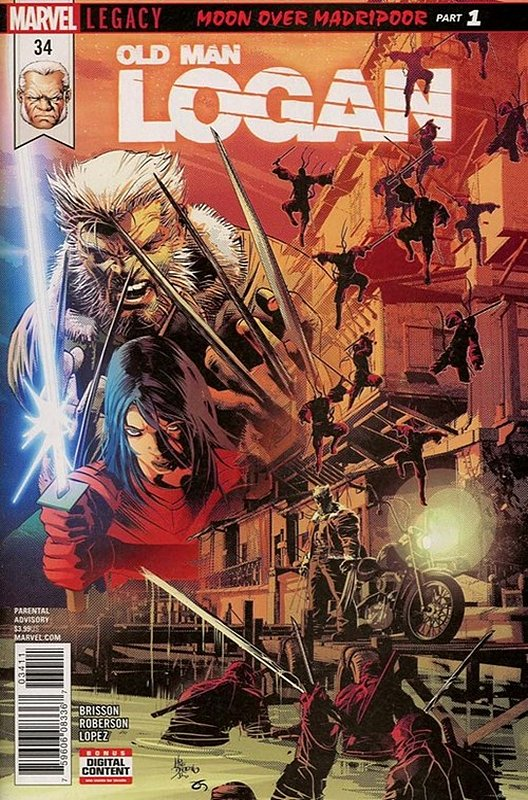 Cover of Old Man Logan (Vol 2) #34. One of 250,000 Vintage American Comics on sale from Krypton!