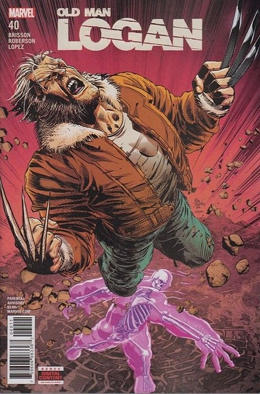 Cover of Old Man Logan (Vol 2) #40. One of 250,000 Vintage American Comics on sale from Krypton!