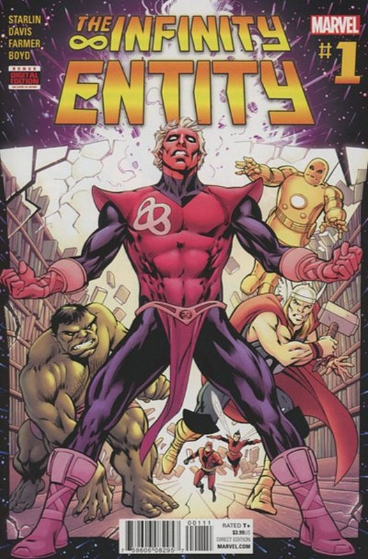 Cover of Infinity Entity (2016 Ltd) #1. One of 250,000 Vintage American Comics on sale from Krypton!