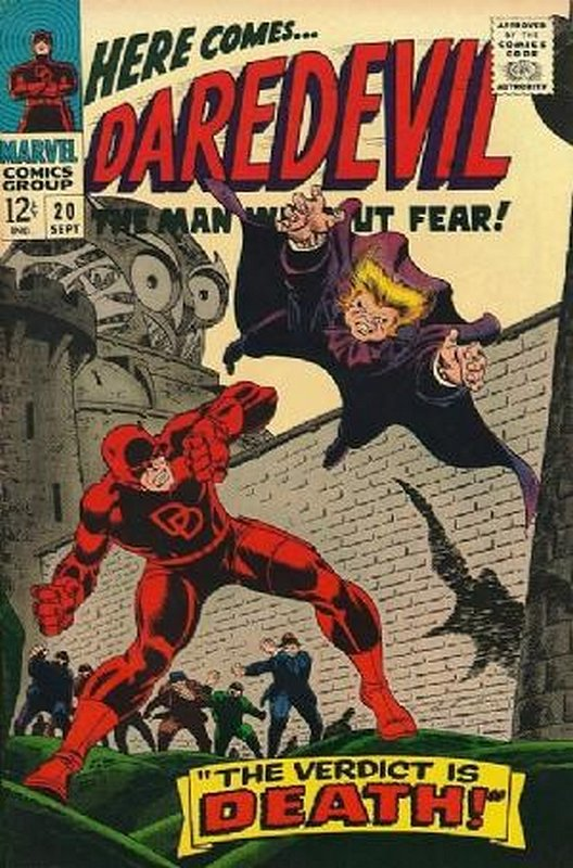 Cover of Daredevil (Vol 1) #20. One of 250,000 Vintage American Comics on sale from Krypton!