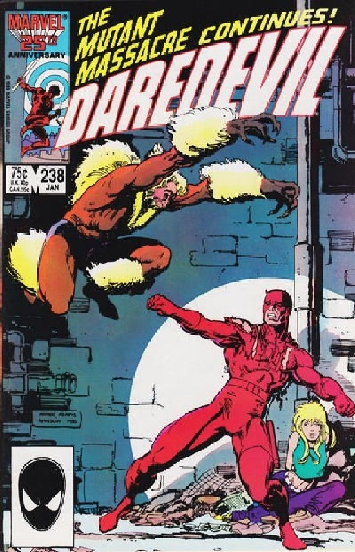 Cover of Daredevil (Vol 1) #238. One of 250,000 Vintage American Comics on sale from Krypton!