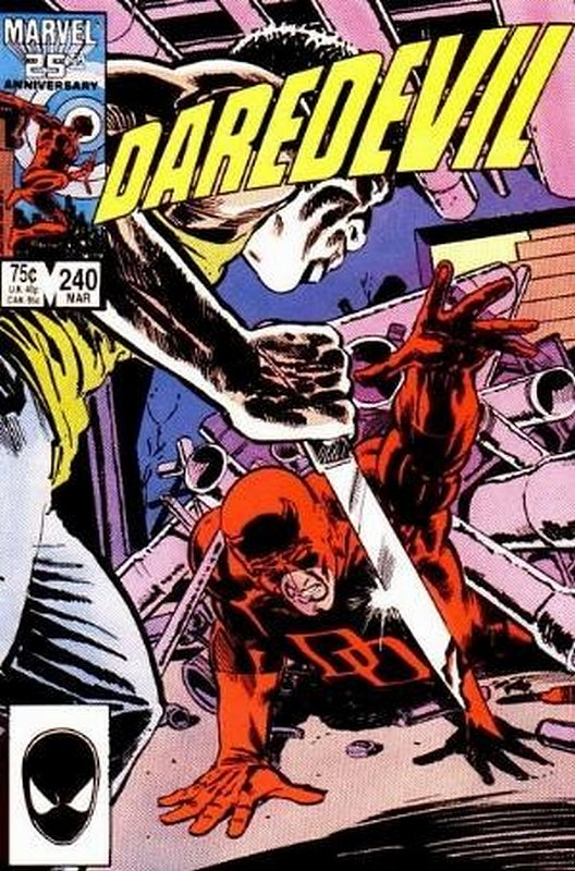 Cover of Daredevil (Vol 1) #240. One of 250,000 Vintage American Comics on sale from Krypton!