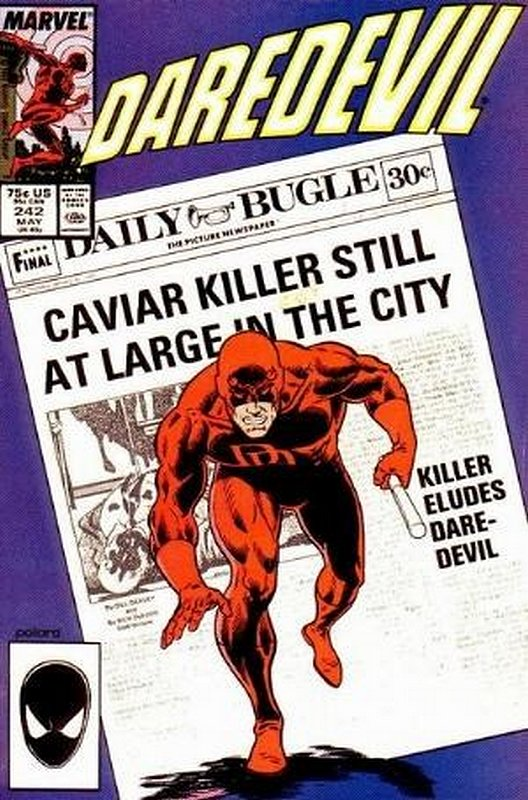 Cover of Daredevil (Vol 1) #242. One of 250,000 Vintage American Comics on sale from Krypton!