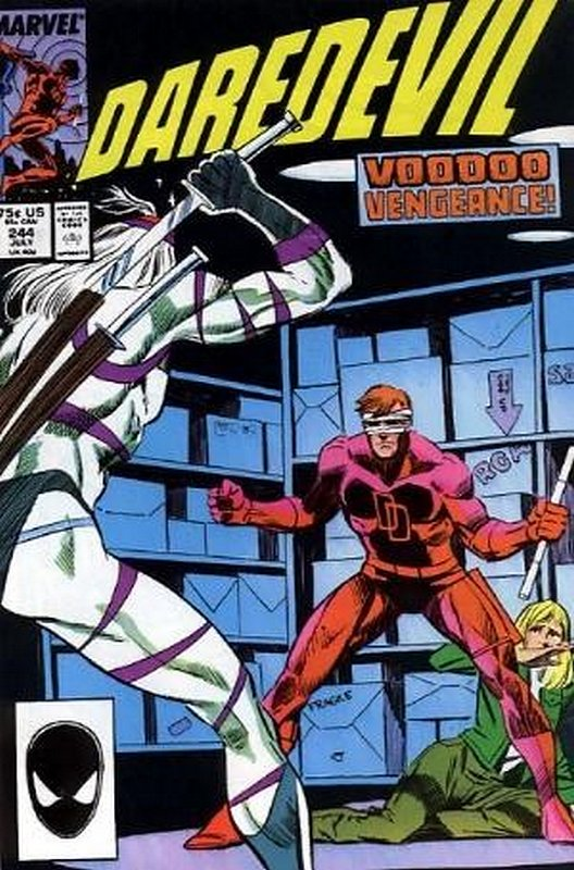 Cover of Daredevil (Vol 1) #244. One of 250,000 Vintage American Comics on sale from Krypton!