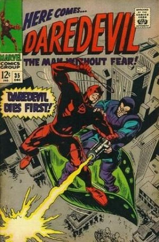 Cover of Daredevil (Vol 1) #35. One of 250,000 Vintage American Comics on sale from Krypton!