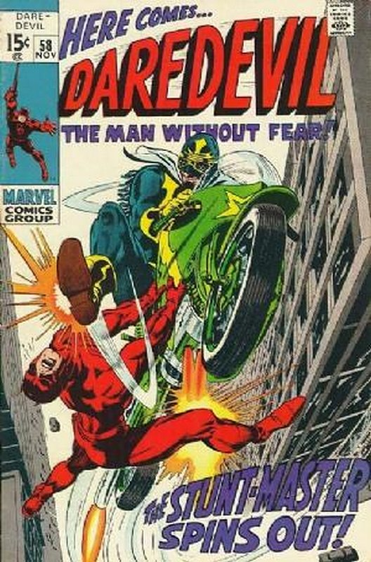 Cover of Daredevil (Vol 1) #58. One of 250,000 Vintage American Comics on sale from Krypton!