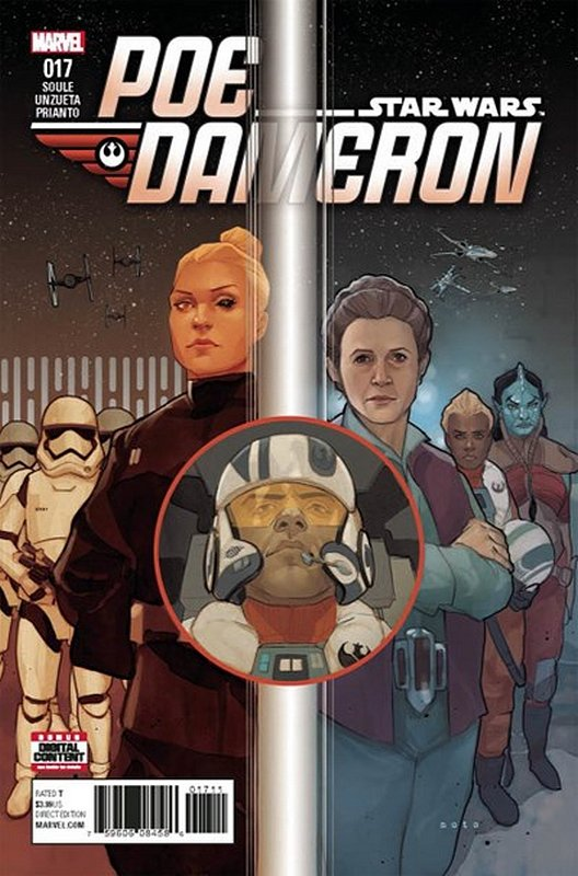 Cover of Star Wars: Poe Dameron #17. One of 250,000 Vintage American Comics on sale from Krypton!