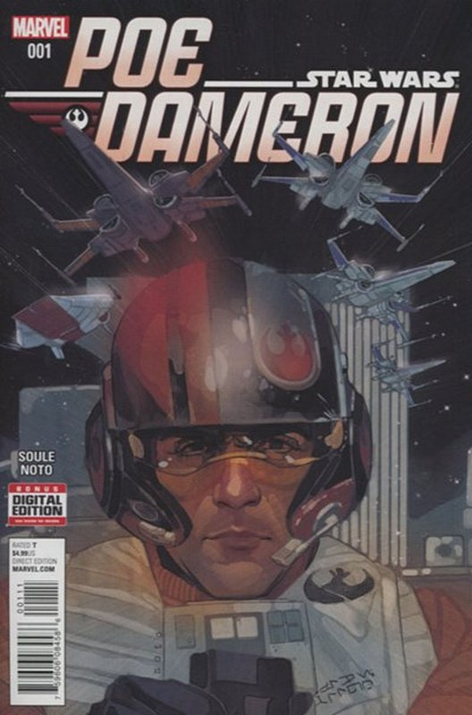 Cover of Star Wars: Poe Dameron #1. One of 250,000 Vintage American Comics on sale from Krypton!