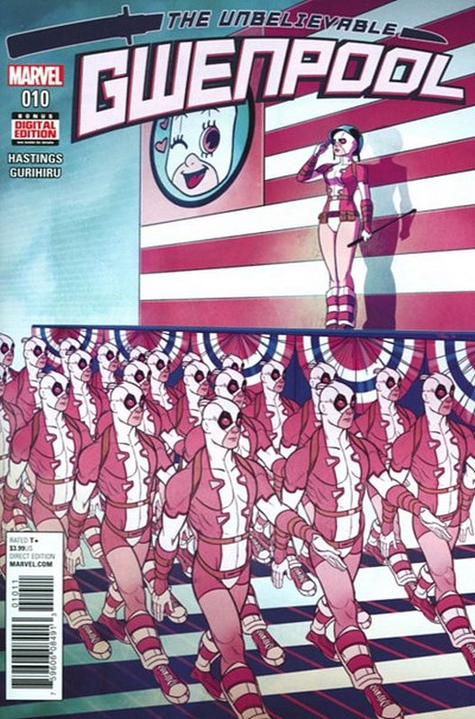 Cover of Gwenpool (Vol 1) #10. One of 250,000 Vintage American Comics on sale from Krypton!