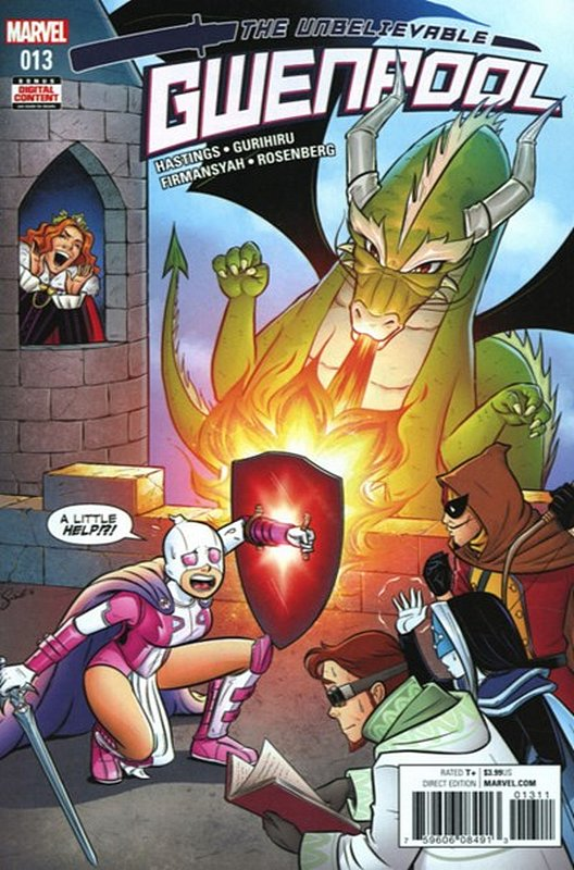 Cover of Gwenpool (Vol 1) #13. One of 250,000 Vintage American Comics on sale from Krypton!