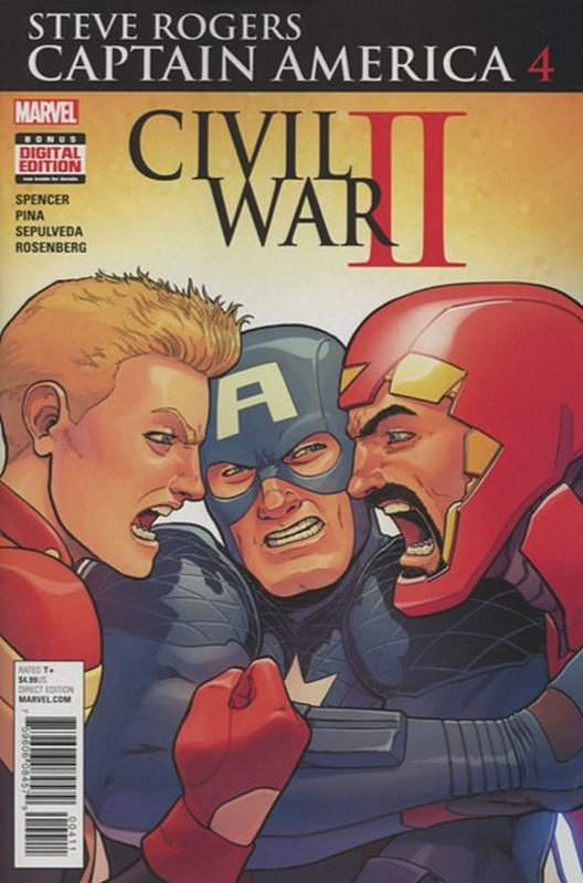 Cover of Captain America, Steve Rogers (Vol 1) #4. One of 250,000 Vintage American Comics on sale from Krypton!