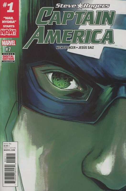 Cover of Captain America, Steve Rogers (Vol 1) #7. One of 250,000 Vintage American Comics on sale from Krypton!