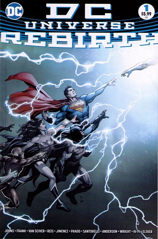 Cover of DC Universe: Rebirth (2016 One Shot) #1. One of 250,000 Vintage American Comics on sale from Krypton!