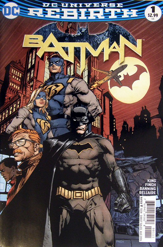 Cover of Batman (Vol 3) #1. One of 250,000 Vintage American Comics on sale from Krypton!