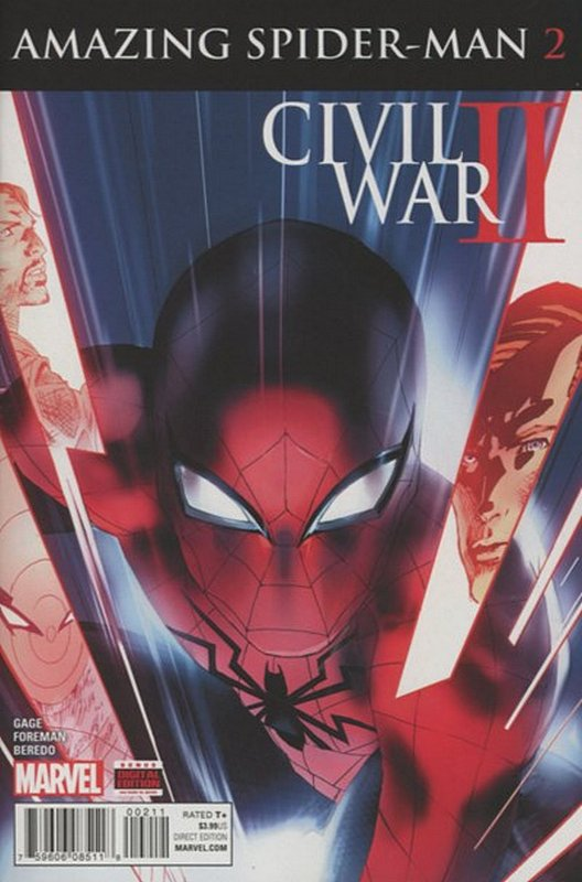 Cover of Civil War II Amazing Spider-Man (2016 Ltd) #2. One of 250,000 Vintage American Comics on sale from Krypton!