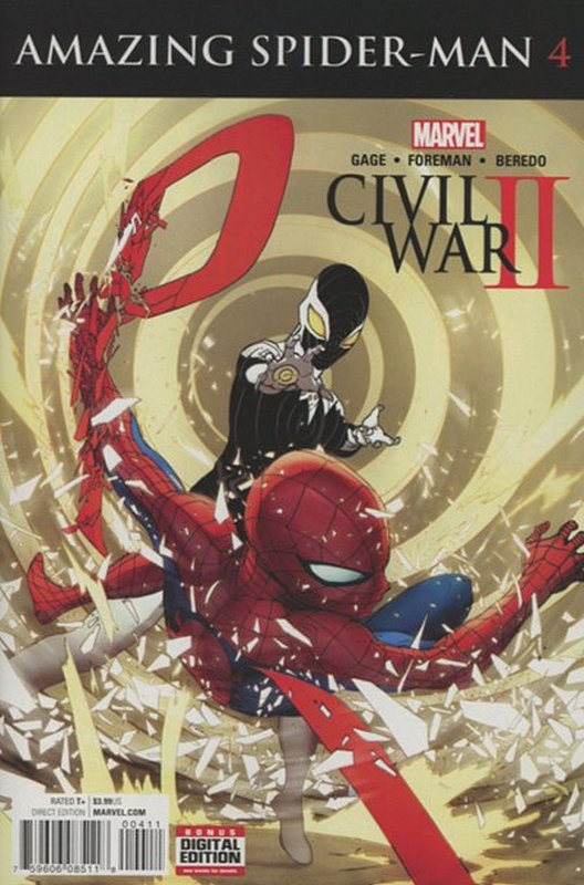 Cover of Civil War II Amazing Spider-Man (2016 Ltd) #4. One of 250,000 Vintage American Comics on sale from Krypton!