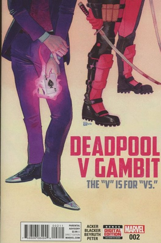 Cover of Deadpool vs Gambit (2016 Ltd) #2. One of 250,000 Vintage American Comics on sale from Krypton!