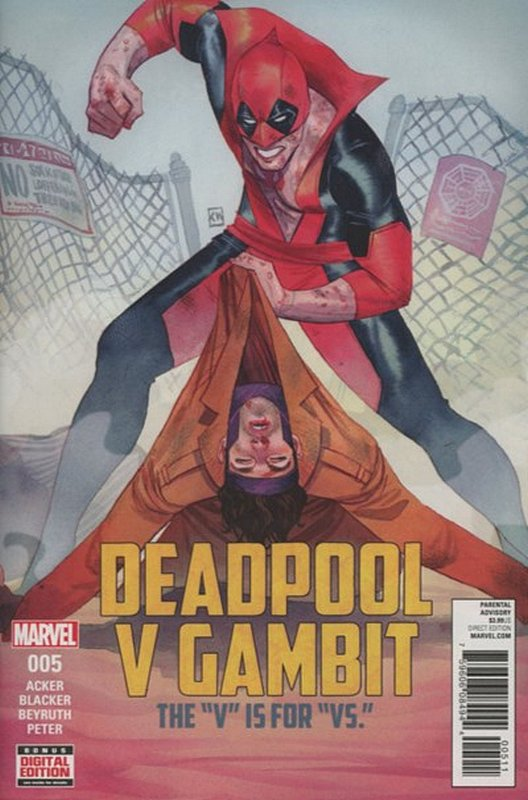 Cover of Deadpool vs Gambit (2016 Ltd) #5. One of 250,000 Vintage American Comics on sale from Krypton!