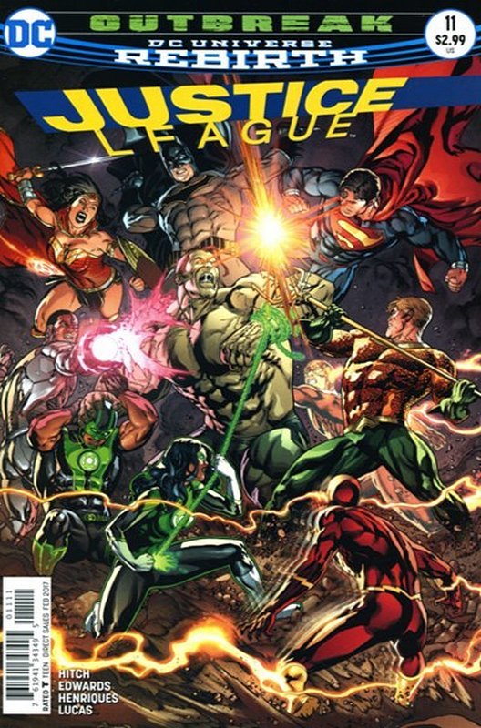 Cover of Justice League (Vol 3) #11. One of 250,000 Vintage American Comics on sale from Krypton!