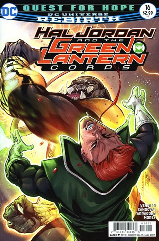 Cover of Hal Jordan & GL Corps (Vol 1) #16. One of 250,000 Vintage American Comics on sale from Krypton!