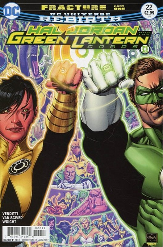 Cover of Hal Jordan & GL Corps (Vol 1) #22. One of 250,000 Vintage American Comics on sale from Krypton!