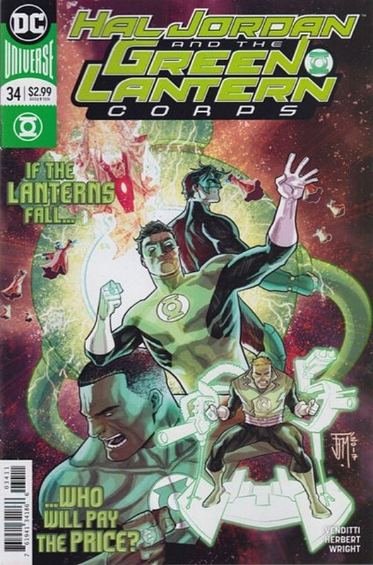 Cover of Hal Jordan & GL Corps (Vol 1) #34. One of 250,000 Vintage American Comics on sale from Krypton!
