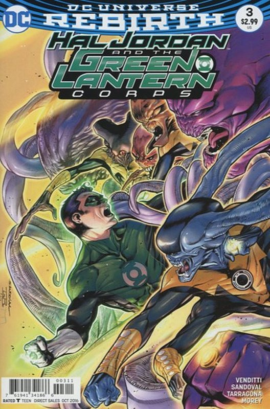 Cover of Hal Jordan & GL Corps (Vol 1) #3. One of 250,000 Vintage American Comics on sale from Krypton!
